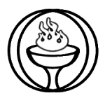 Flaming Chalice in black and white