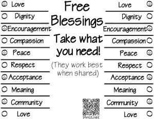 Free Blessings IAmUU BW
